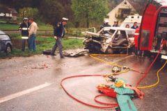 Prometna nesreča v Kamni gorci