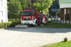 Požar v hotelu Slatina
