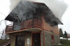 9. februar - požar brunarice - Irje