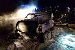 Požar avta Pečica 20.januar