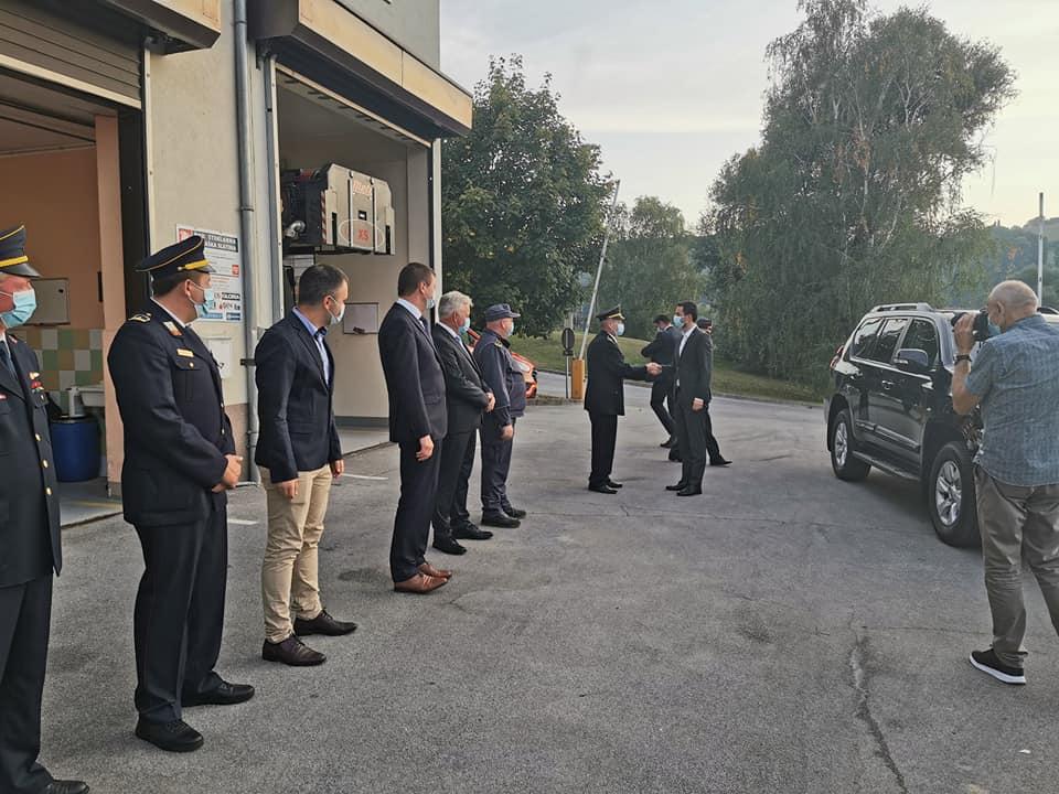 Obisk ministra za obrambo g. Mateja Tonina